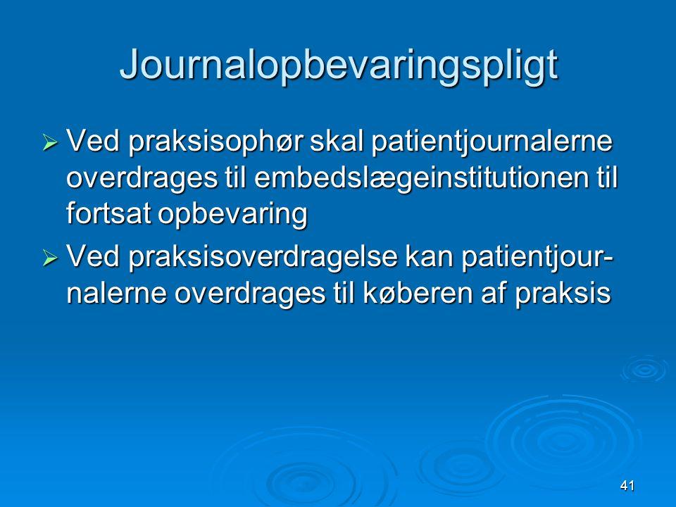 Journalopbevaringspligt