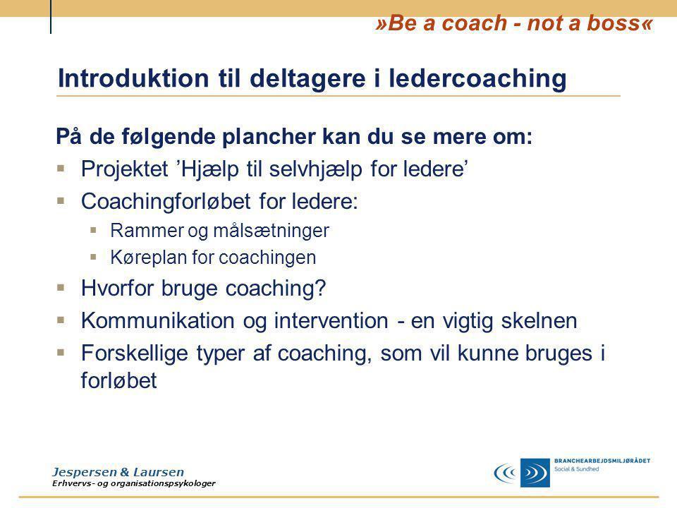 Introduktion til deltagere i ledercoaching