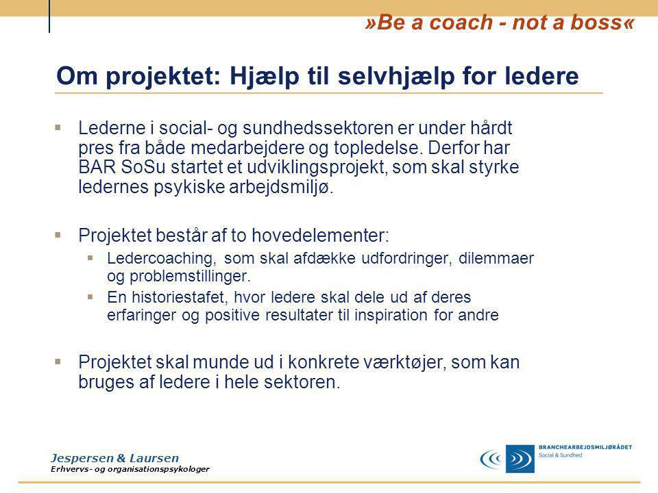 Om projektet: Hjælp til selvhjælp for ledere