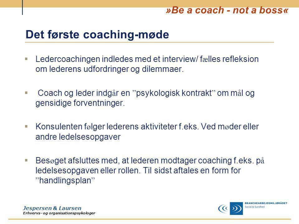 Det første coaching-møde