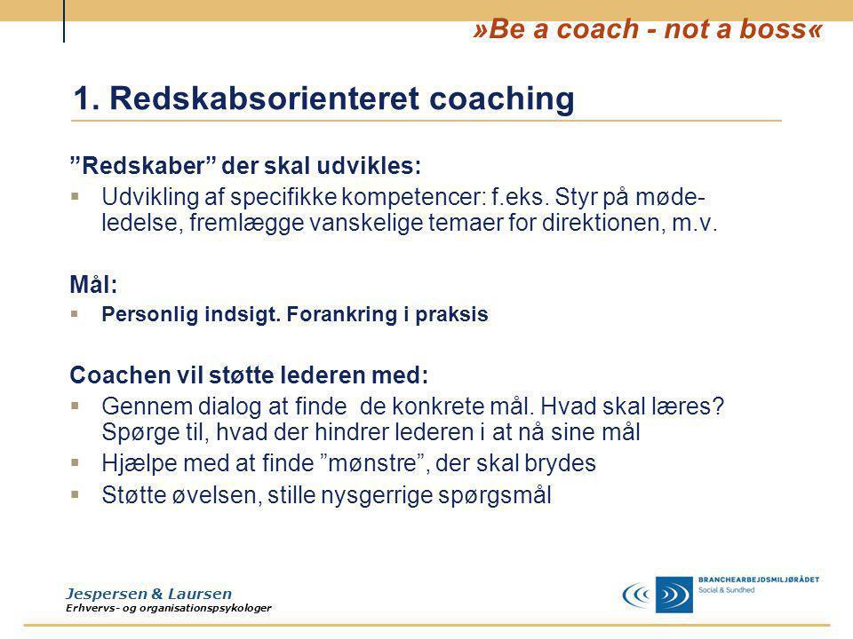1. Redskabsorienteret coaching