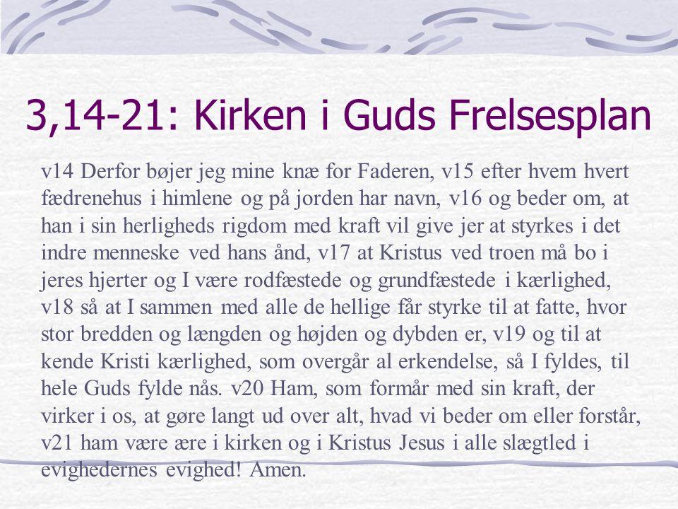 3,14-21: Kirken i Guds Frelsesplan