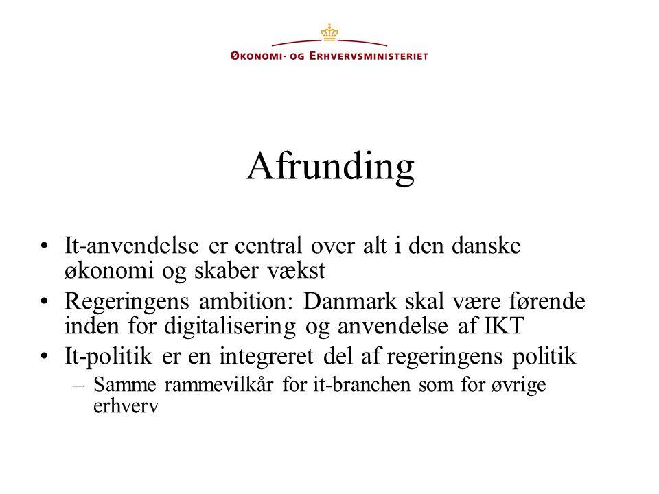 Afrunding It-anvendelse er central over alt i den danske økonomi og skaber vækst.