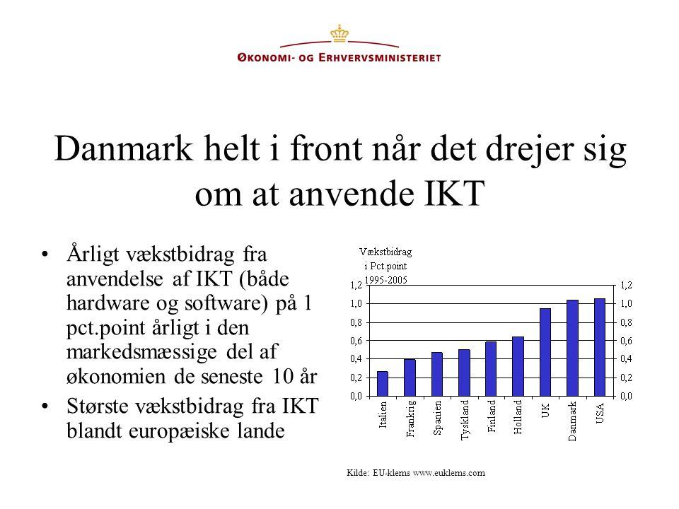 Danmark helt i front når det drejer sig om at anvende IKT