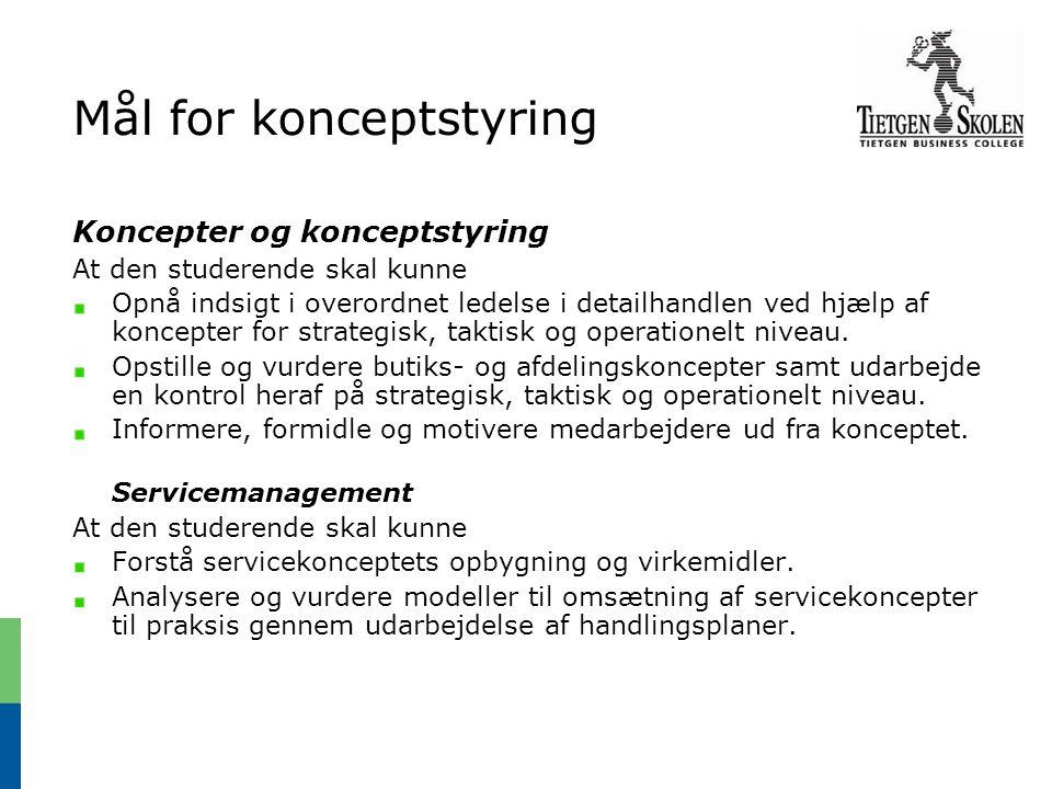 Mål for konceptstyring