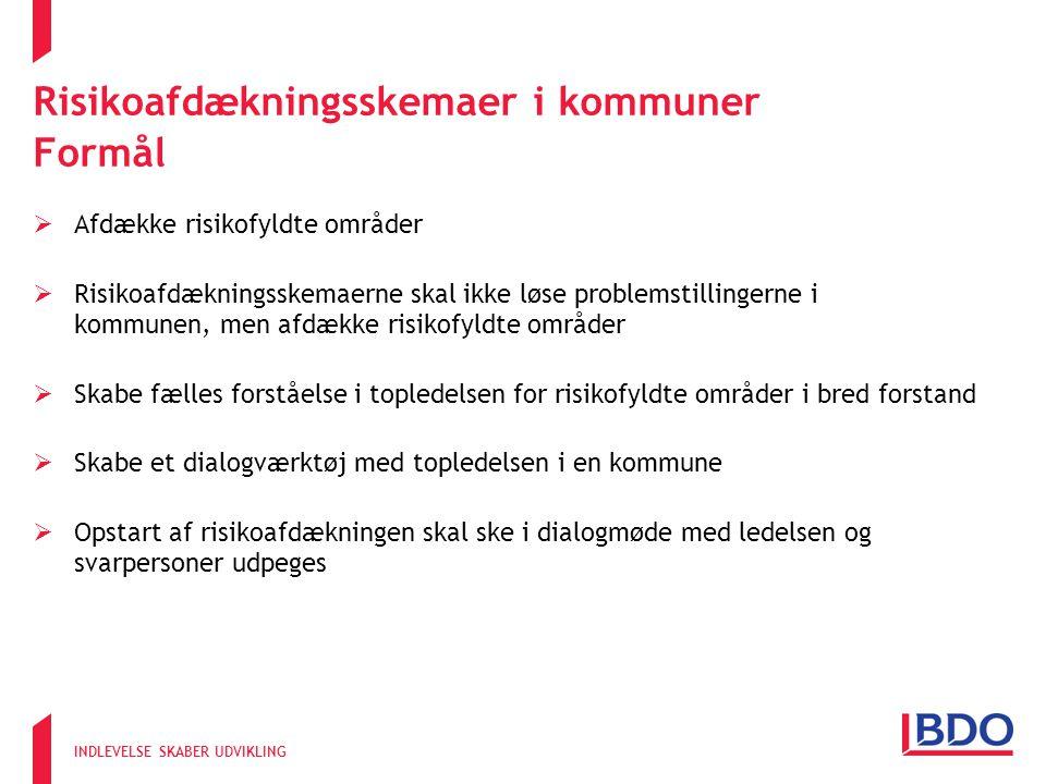 Risikoafdækningsskemaer i kommuner Formål