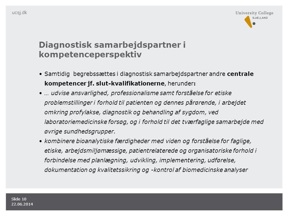 Diagnostisk samarbejdspartner i kompetenceperspektiv