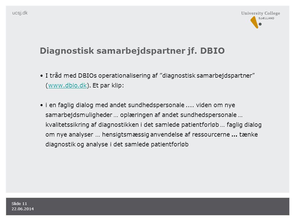 Diagnostisk samarbejdspartner jf. DBIO