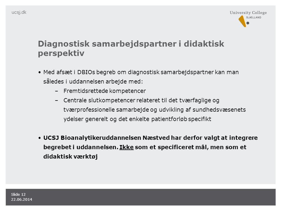 Diagnostisk samarbejdspartner i didaktisk perspektiv