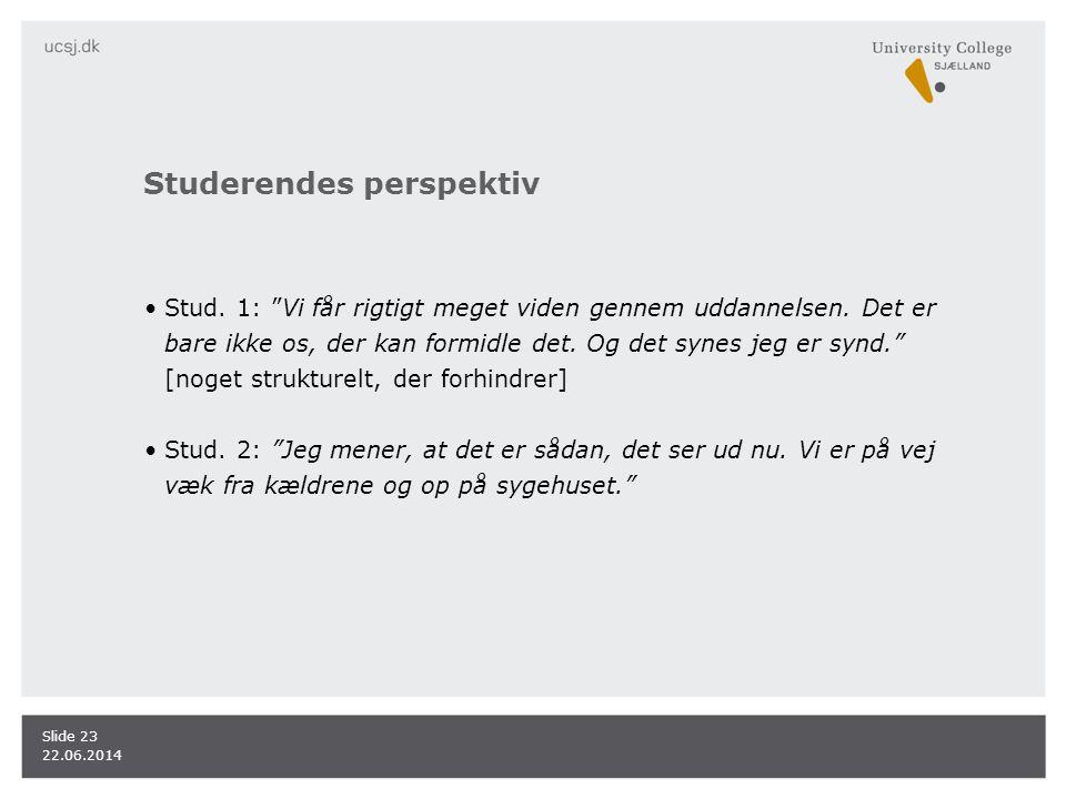 Studerendes perspektiv