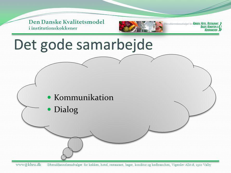 Det gode samarbejde Kommunikation Dialog