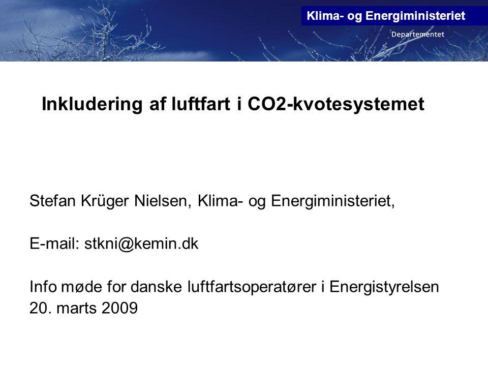 Inkludering af luftfart i CO2-kvotesystemet