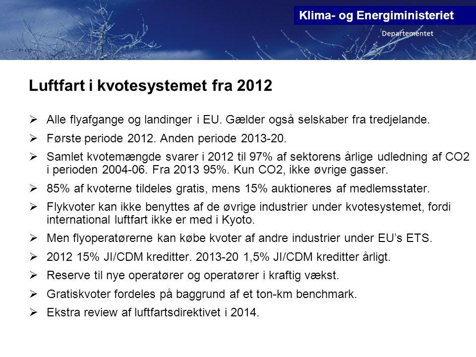 Luftfart i kvotesystemet fra 2012