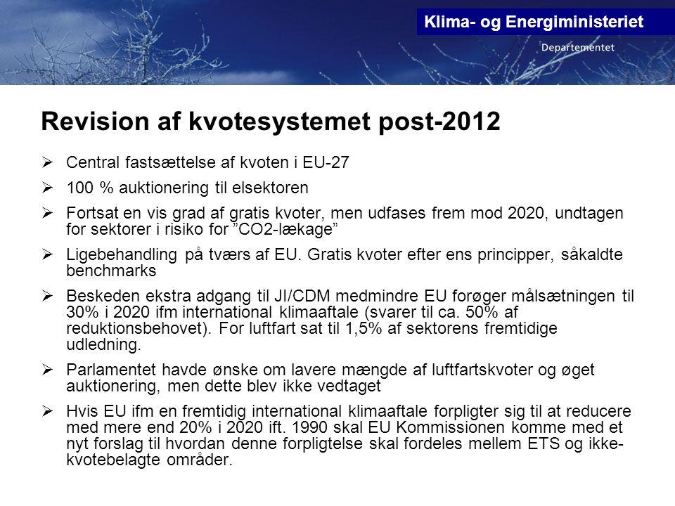 Revision af kvotesystemet post-2012