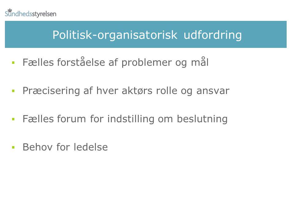 Politisk-organisatorisk udfordring