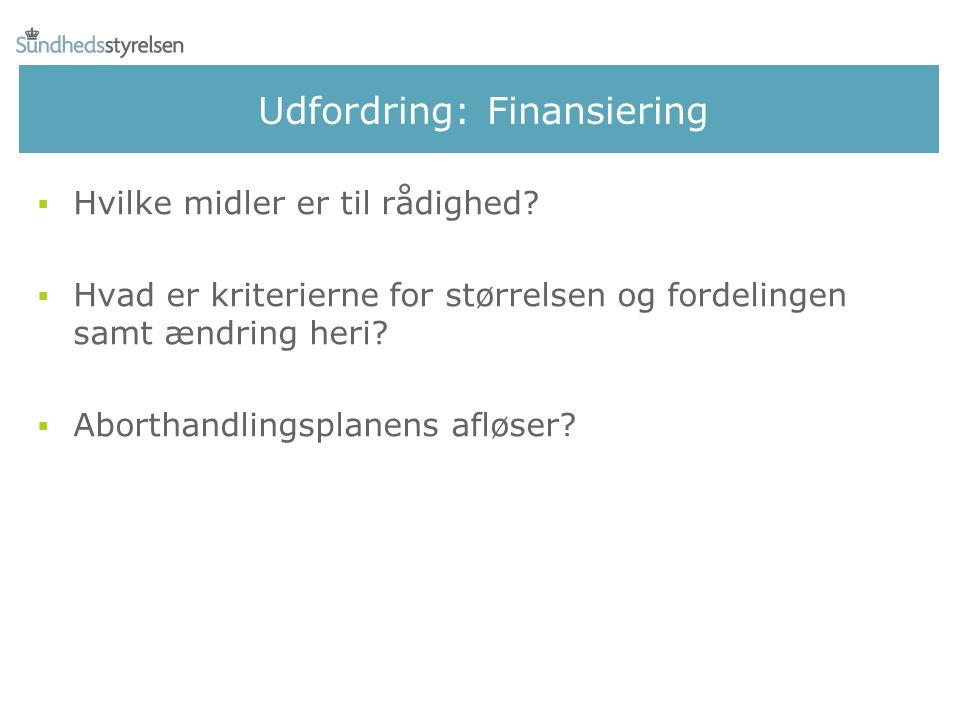 Udfordring: Finansiering
