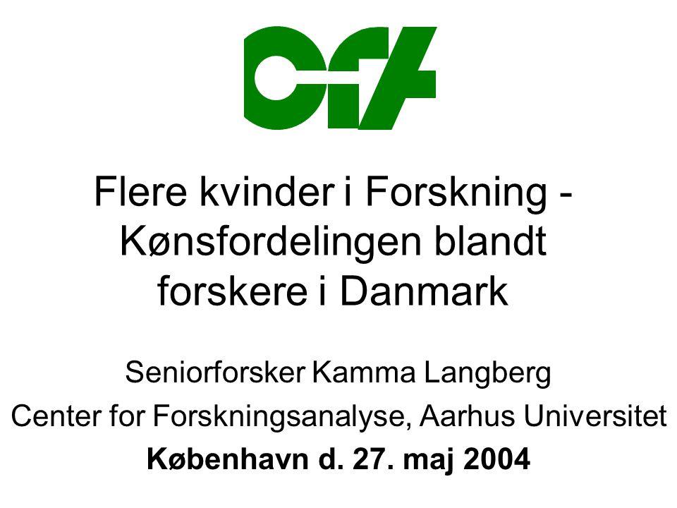 Flere kvinder i Forskning -Kønsfordelingen blandt forskere i Danmark