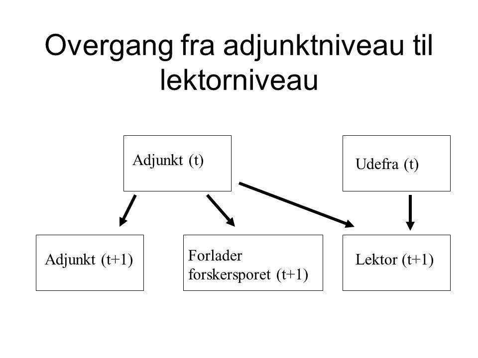 Overgang fra adjunktniveau til lektorniveau