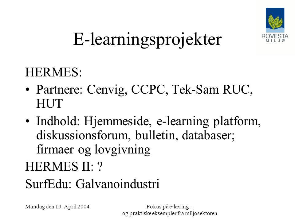 E-learningsprojekter
