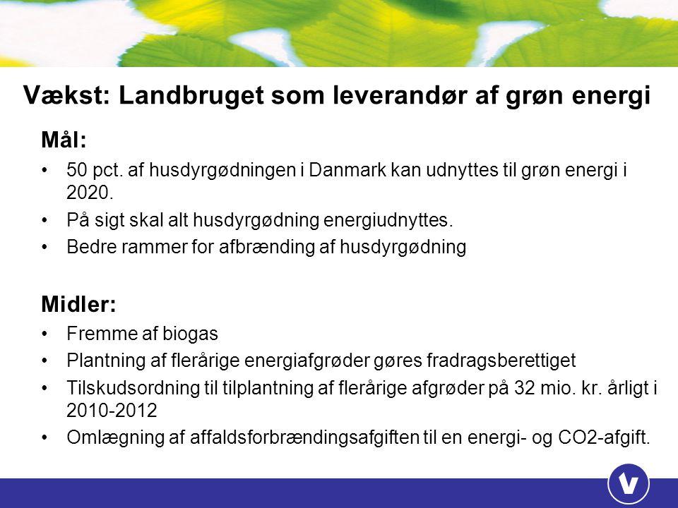 Vækst: Landbruget som leverandør af grøn energi