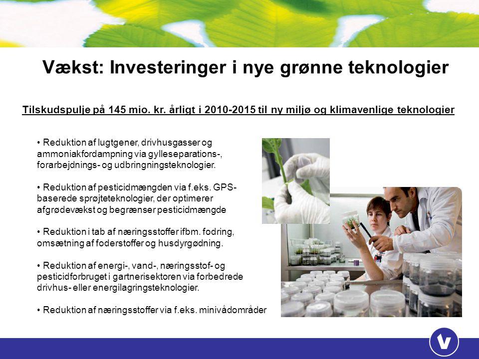 Vækst: Investeringer i nye grønne teknologier