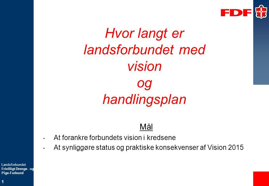 Hvor langt er landsforbundet med vision og handlingsplan