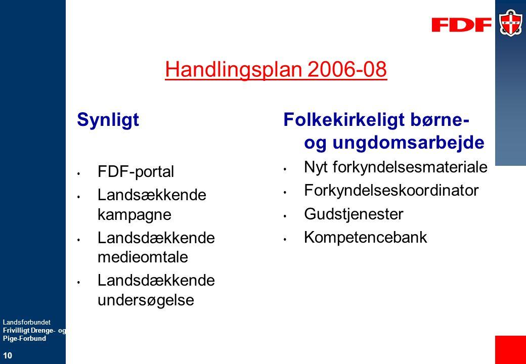 Handlingsplan 2006-08 Synligt Folkekirkeligt børne- og ungdomsarbejde