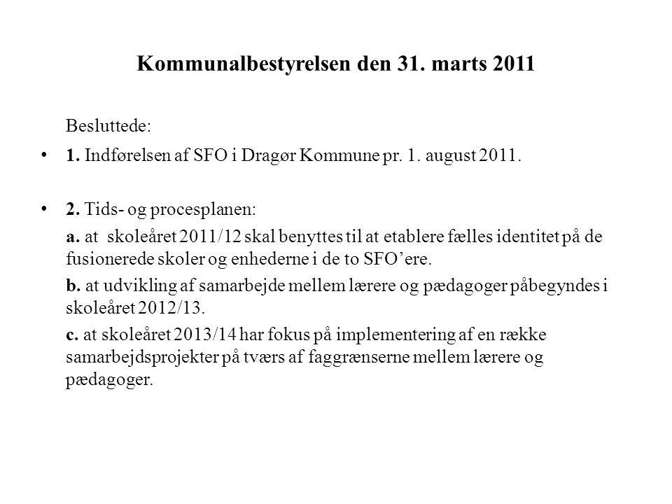 Kommunalbestyrelsen den 31. marts 2011