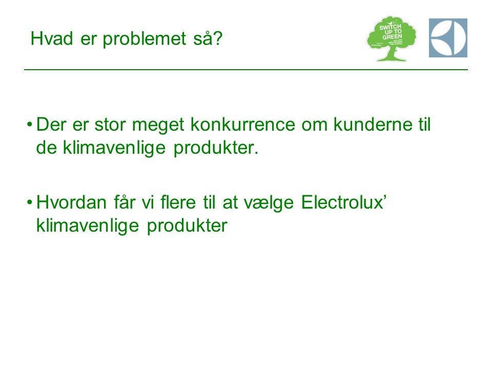 Hvad er problemet så Der er stor meget konkurrence om kunderne til de klimavenlige produkter.