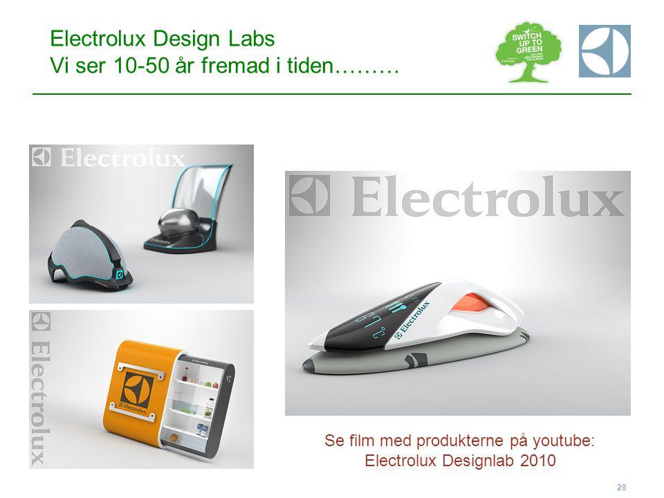 Electrolux Design Labs Vi ser 10-50 år fremad i tiden………