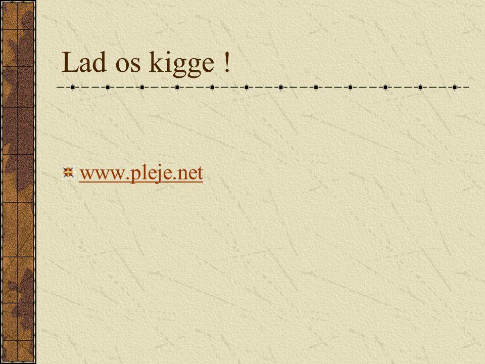 Lad os kigge ! www.pleje.net
