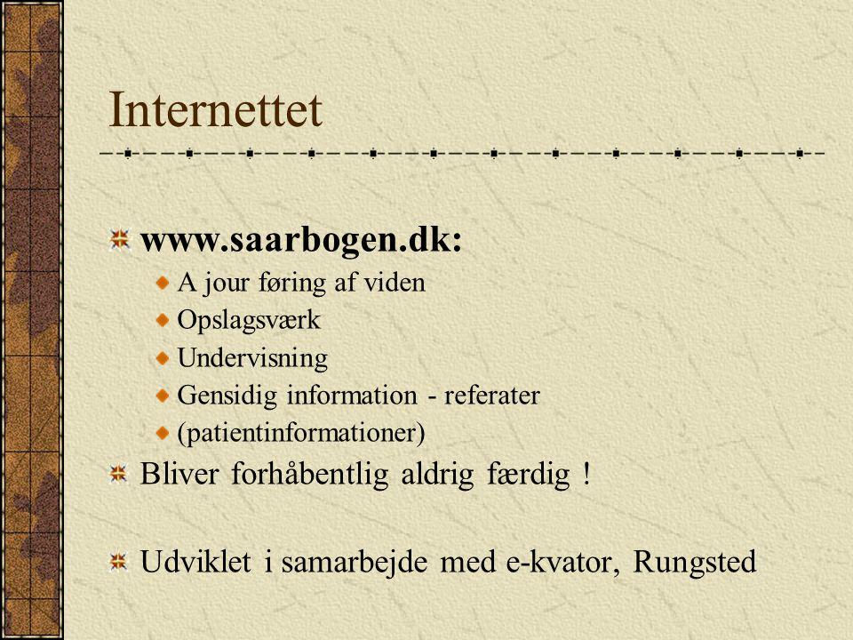 Internettet www.saarbogen.dk: Bliver forhåbentlig aldrig færdig !