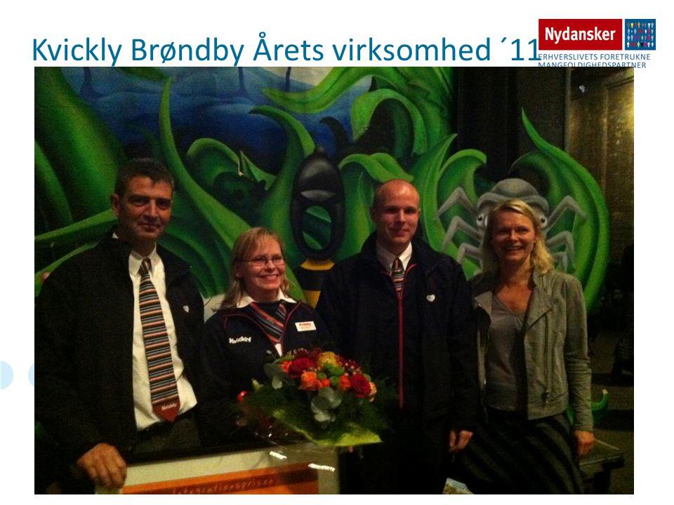 Kvickly Brøndby Årets virksomhed ´11