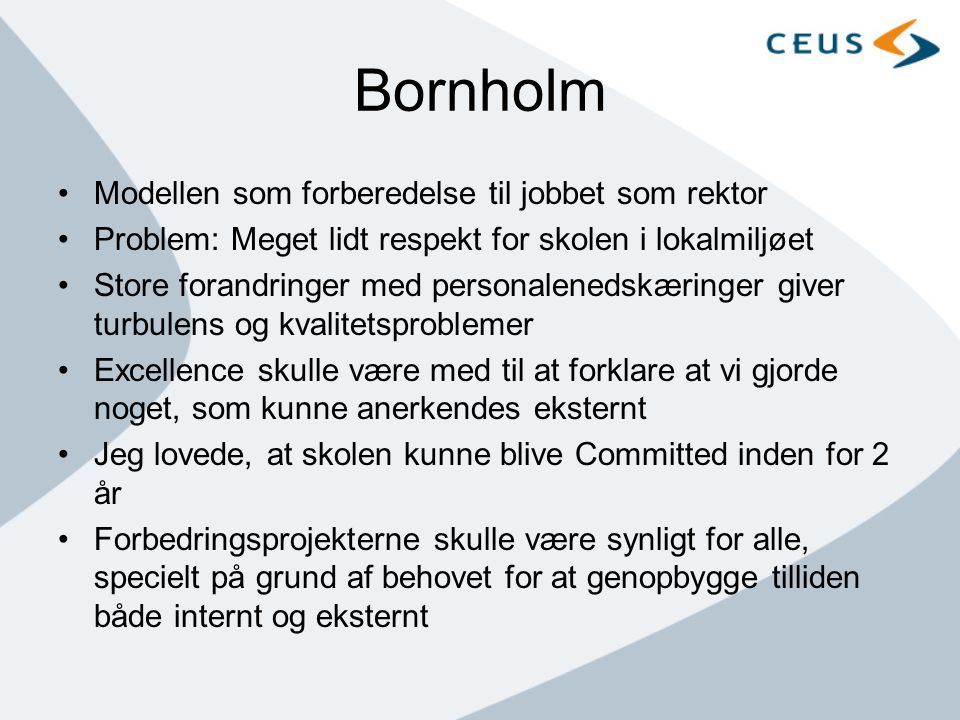 Bornholm Modellen som forberedelse til jobbet som rektor