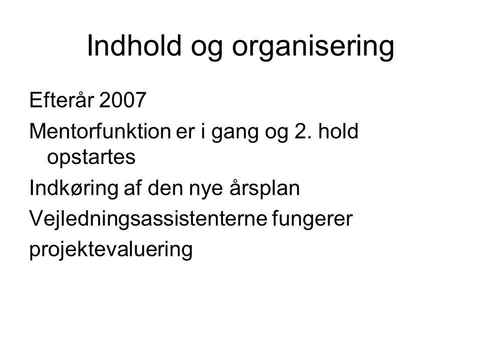 Indhold og organisering