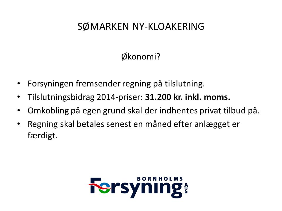 SØMARKEN NY-KLOAKERING