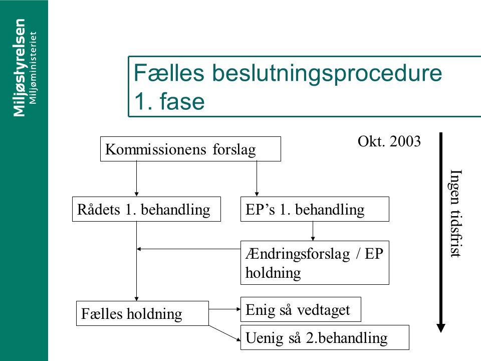 Fælles beslutningsprocedure 1. fase