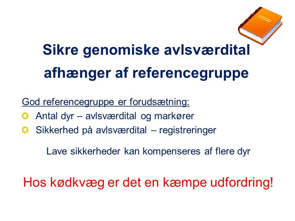 Sikre genomiske avlsværdital afhænger af referencegruppe