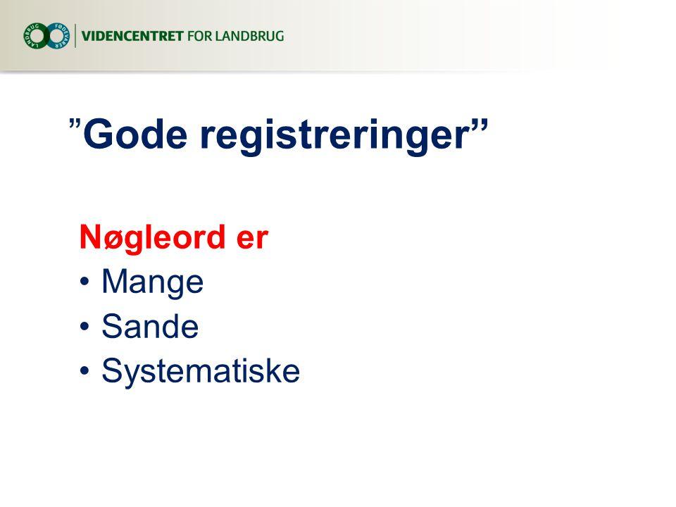 Gode registreringer