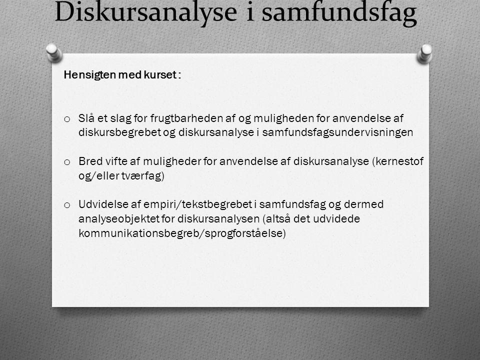 Diskursanalyse i samfundsfag
