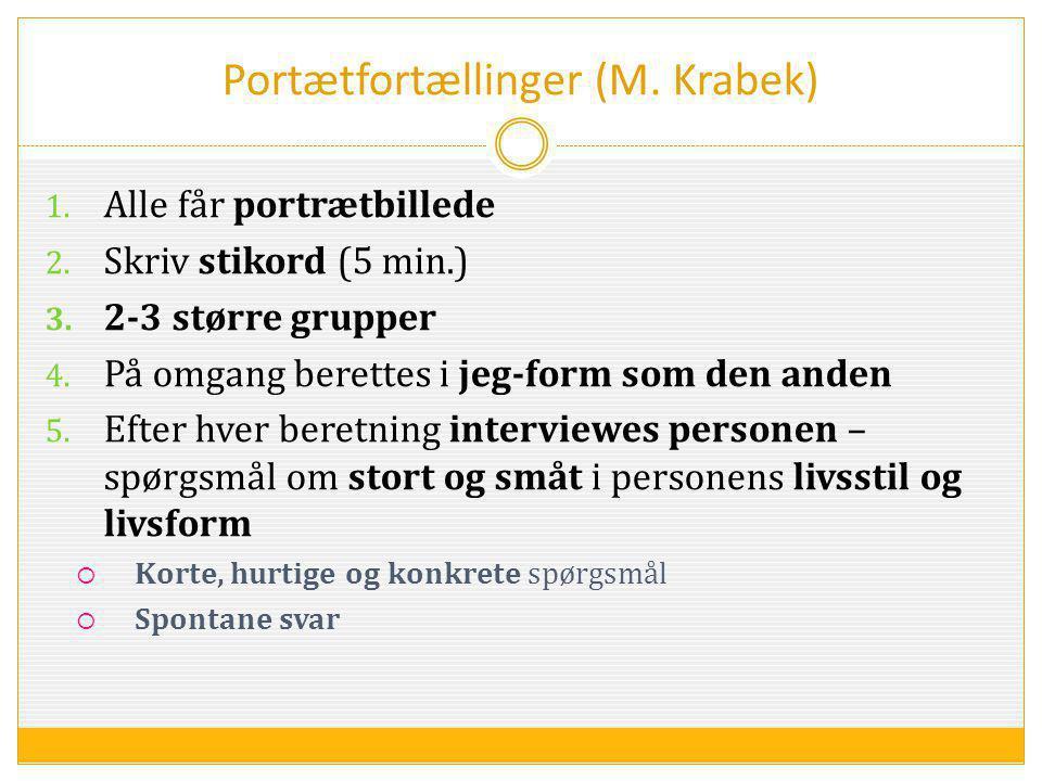 Portætfortællinger (M. Krabek)