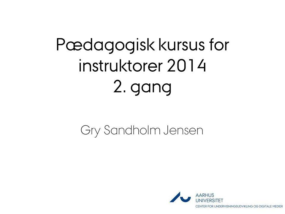 Pædagogisk kursus for instruktorer 2014 2. gang