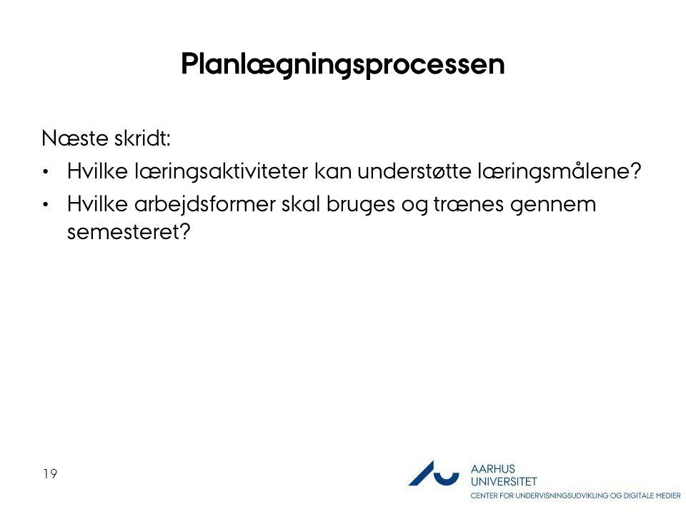 Planlægningsprocessen