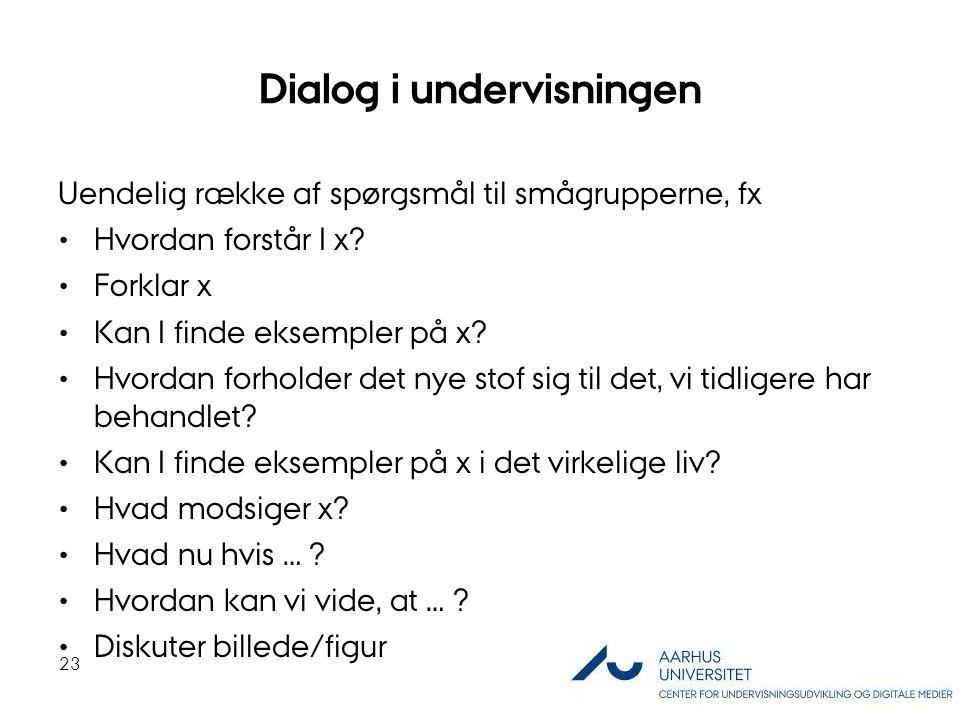 Dialog i undervisningen
