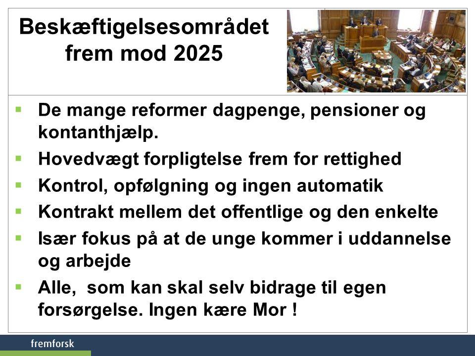 Beskæftigelsesområdet frem mod 2025
