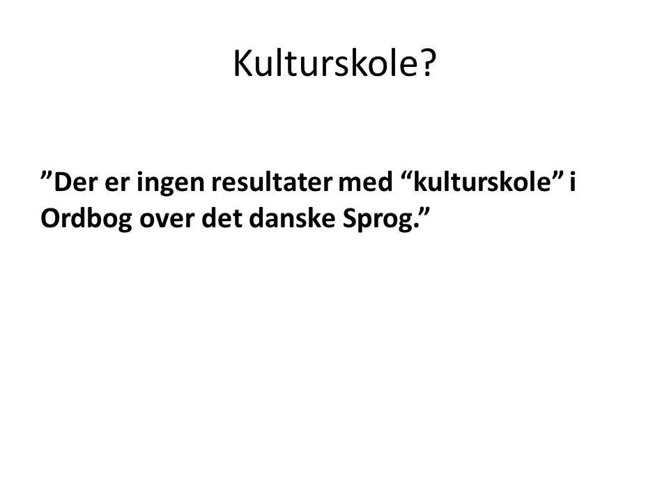 Kulturskole Der er ingen resultater med kulturskole i Ordbog over det danske Sprog.