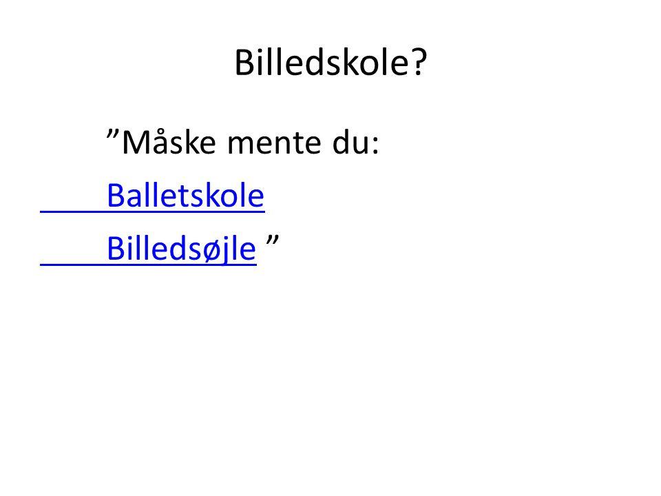 Billedskole Måske mente du: Balletskole Billedsøjle