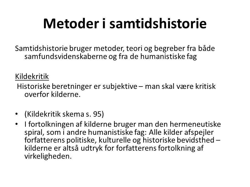 Metoder i samtidshistorie