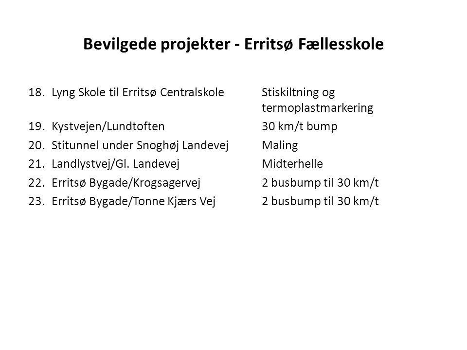 Bevilgede projekter - Erritsø Fællesskole