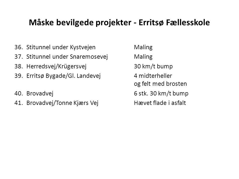 Måske bevilgede projekter - Erritsø Fællesskole